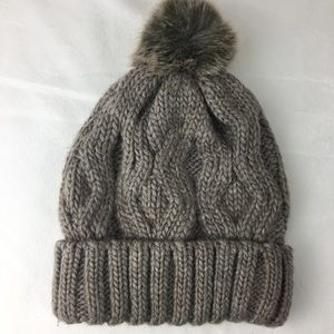 H&M Grey Cable Knit Winter Hat